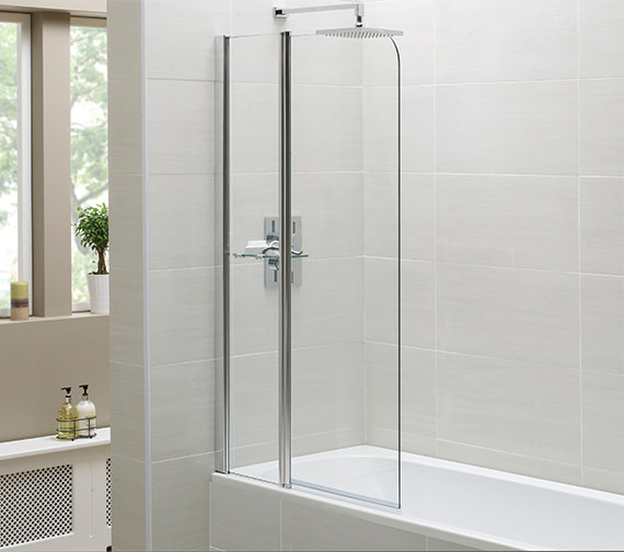 April Identiti2 900 x 1400mm Fixed Panel Bath Screen
