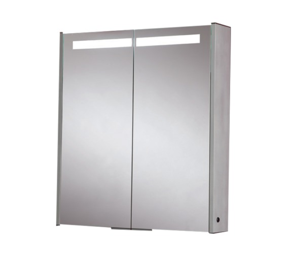 Phoenix Double Door Aluminium Mirror Cabinet 630 x 700mm - MI032