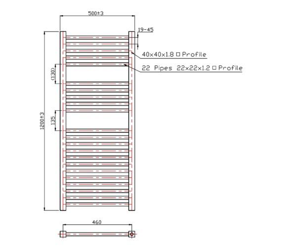 Technical drawing QS-V60448 / RA057