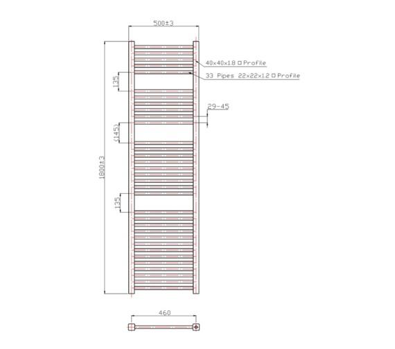 Technical drawing QS-V60449 / RA058