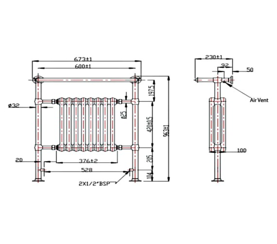 Technical drawing QS-V60455 / RA063
