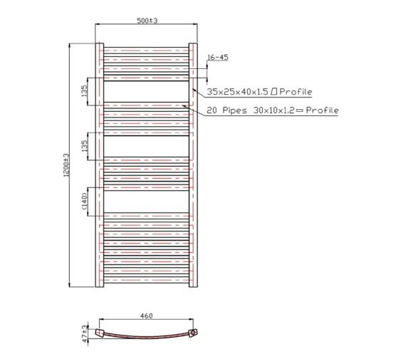 Technical drawing QS-V60445 / RA054