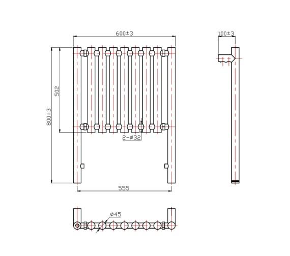 Technical drawing QS-V21327 / RA064