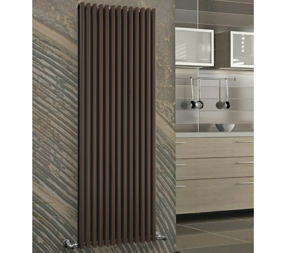 DQ Heating Vulcano Double Vertical Designer Radiator 600 x 1971mm