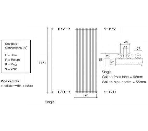 Technical drawing QS-V17966 / VUL1 177/8 V