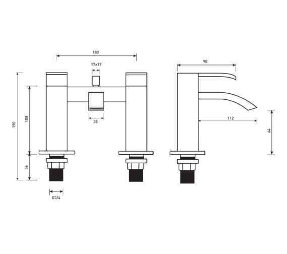 Technical drawing QS-V81445 / VK019