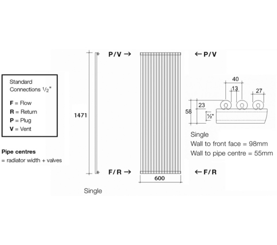 Technical drawing QS-V17965 / VUL1 147/15 V