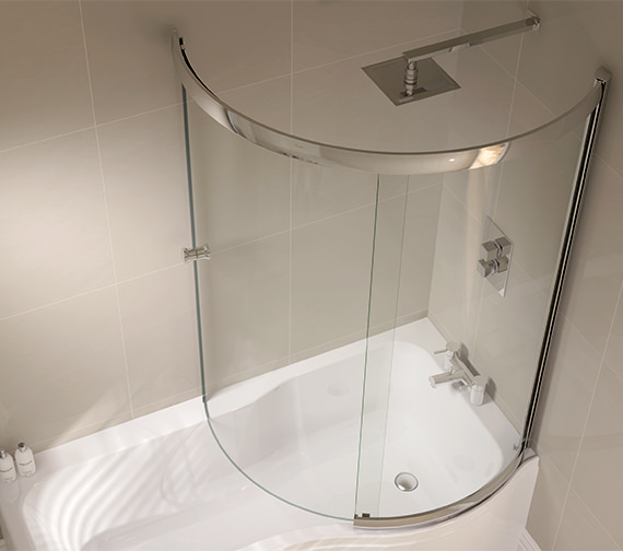 Additional image of April Prestige 984 x 1500mm P Shaped Sliding Bath Screen