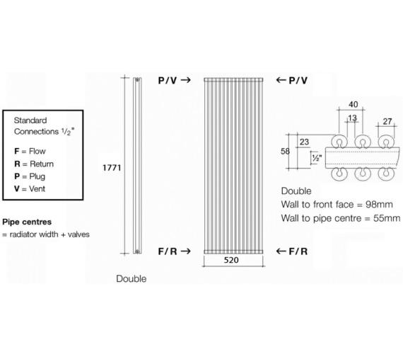 Technical drawing QS-V17980 / VUL2 177/13 V