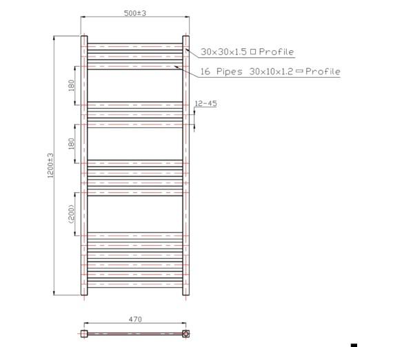 Technical drawing QS-V21334 / RA052