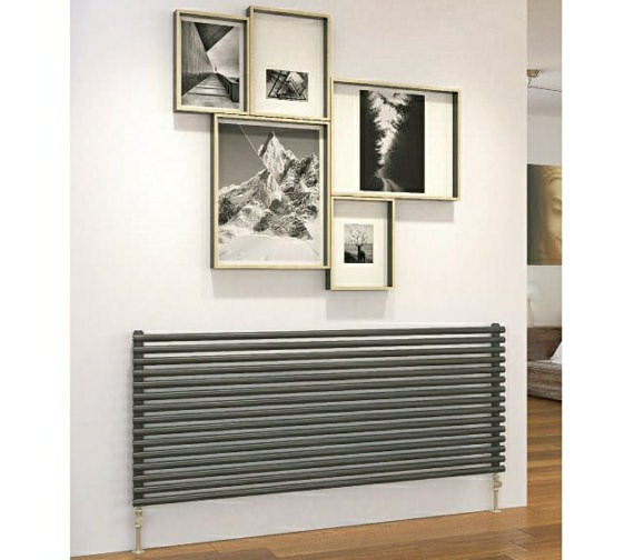 DQ Heating Vulcano Double Horizontal Designer Radiator 571 x 520mm