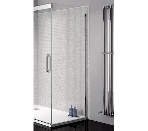 April Prestige Frameless 800mm Clear - Silver Side Panel For Shower Enclosure