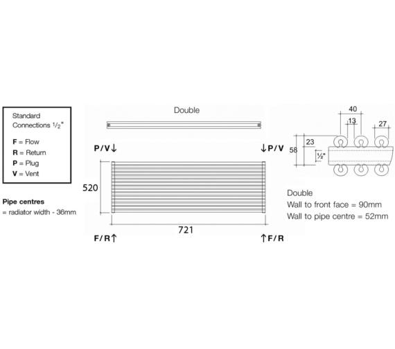 Technical drawing QS-V13543 / VUL2 72/13 H