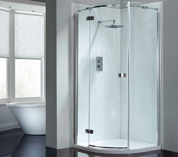 April Prestige Frameless 900 x 900mm Single Door Shower Quadrant