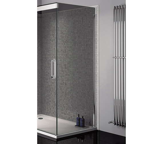 April Prestige Frameless 800mm Smoked - Silver Side Panel For Shower Enclosure