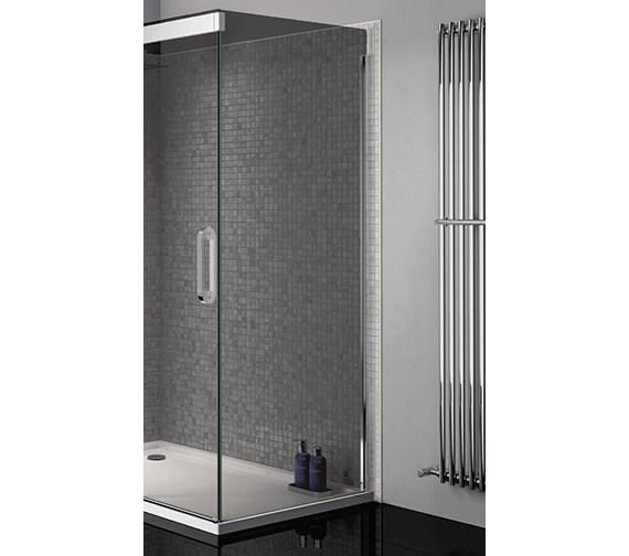 April Prestige Frameless 900mm Smoked - Silver Side Panel For Shower Enclosure