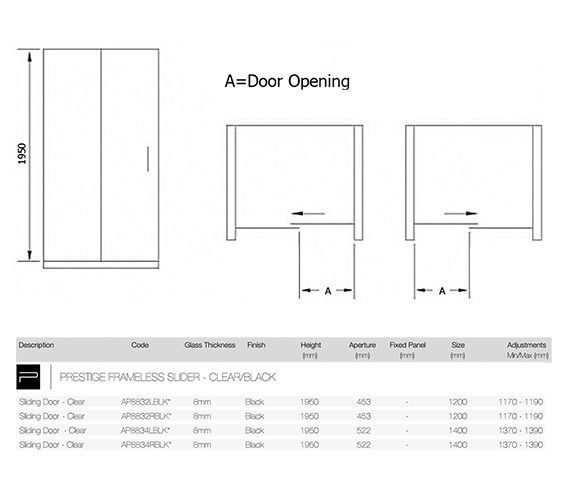 Technical drawing QS-V84205 / AP8832LBLK