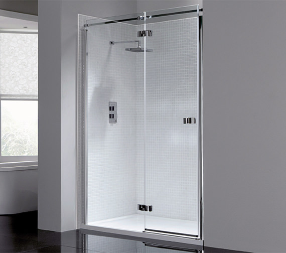 April Prestige Frameless 900mm Hinged Shower Door