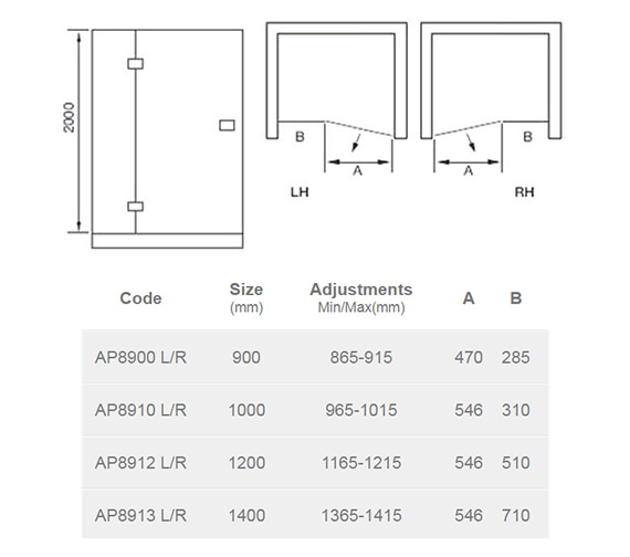 Technical drawing QS-V54663 / AP8900L