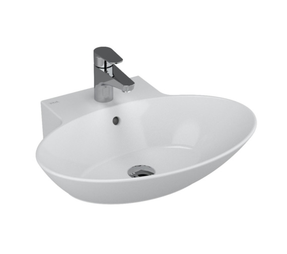 VitrA Geo Eclipse 600 x 495mm Single Tap Hole Oval Washbasin