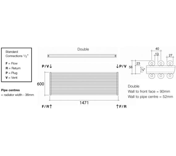 Technical drawing QS-V13550 / VUL2 147/15 H