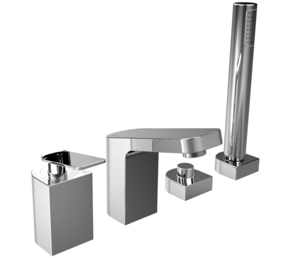 Bristan Alp 4 Hole Bath Shower Mixer Tap Chrome