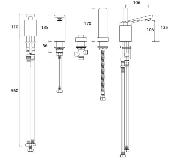 Technical drawing QS-V82458 / ALP 4HBSM C
