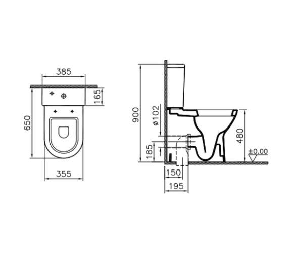 Technical drawing QS-V81851 / 5349L003-7200