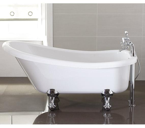 April Eldwick 1500 x 750mm White Slipper Freestanding Bath