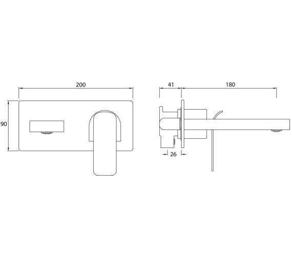 Technical drawing QS-V82460 / ALP WMBAS C