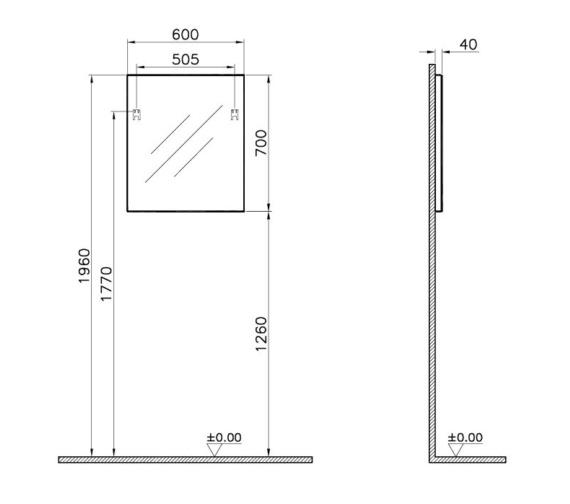 Technical drawing QS-V81853 / 56855