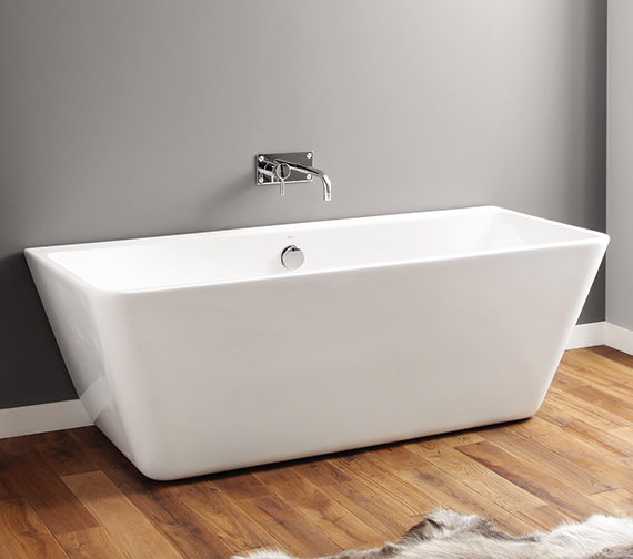 April Eppleby 1700 x 750mm Back-To-Wall Contemporary Freestanding Bath