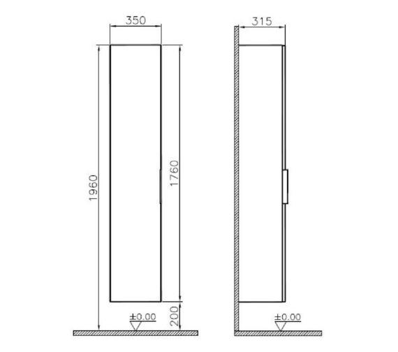Technical drawing QS-V81860 / 58951