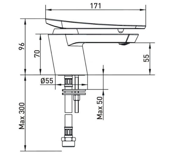 Technical drawing QS-V82472 / CLR BASNW WHT