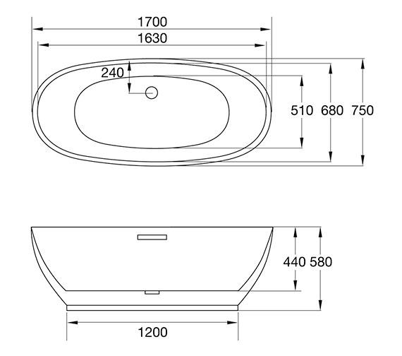 Technical drawing QS-V84215 / 74001-1700D