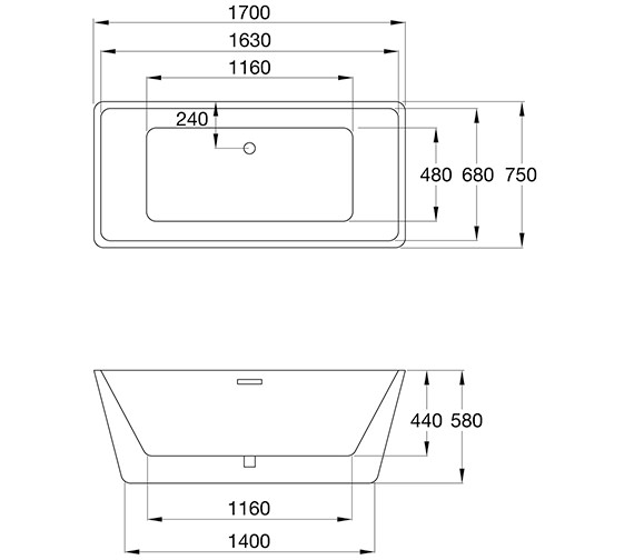 Technical drawing QS-V84214 / 74001-1700E