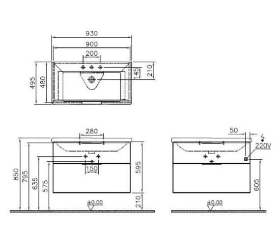 Technical drawing QS-V81862 / 58943