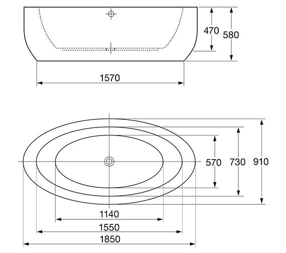 Technical drawing QS-V84216 / 74001-1800B