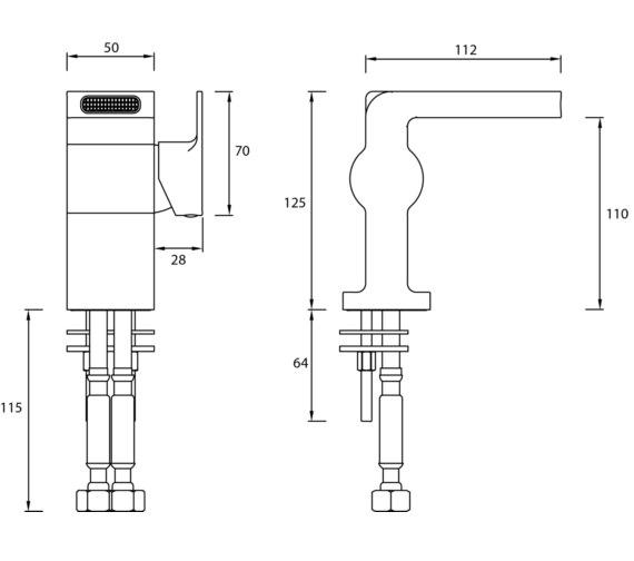 Technical drawing QS-V82475 / EXD BAS C