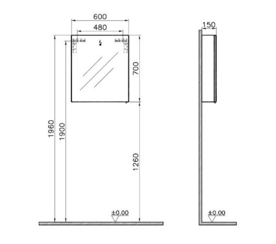 Technical drawing QS-V81855 / 56981