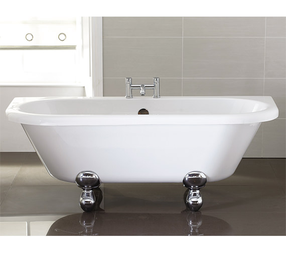 April Kildwick 1700 x 750mm Back-To-Wall Freestanding Bath