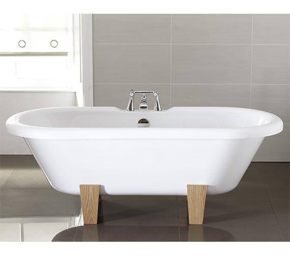 April Skipton 1700 x 750mm Thermolite Double Ended Freestanding Bath