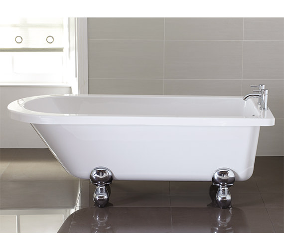 April Bentham 1700 x 750mm White Single Ended Freestanding Bath