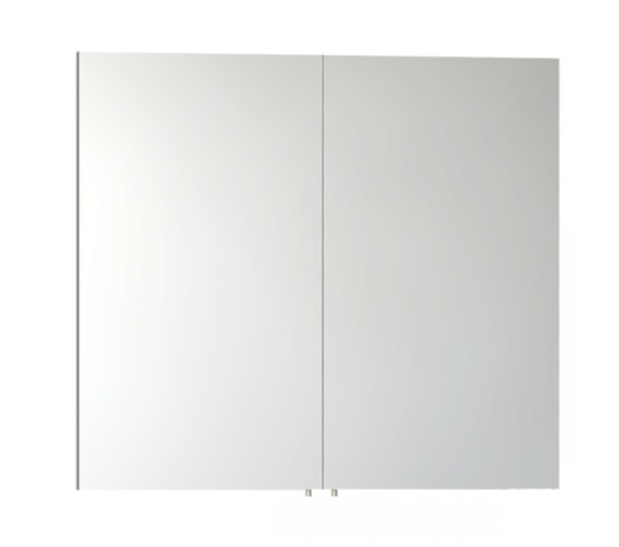 Vitra s50 classic 800mm white high gloss double door for Bathroom cabinets 800mm high