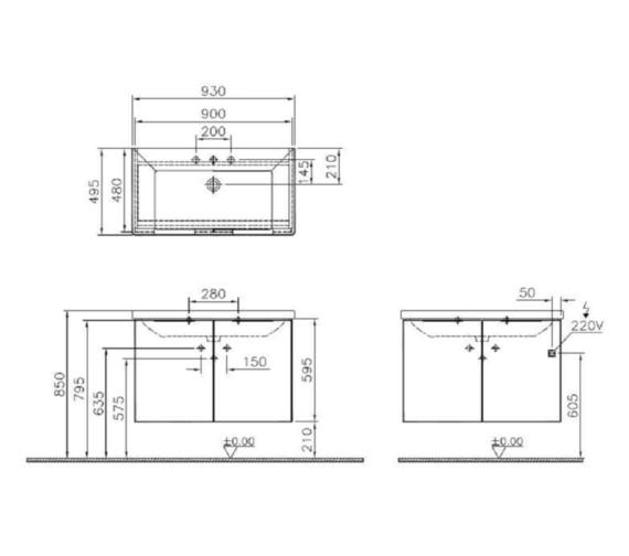 Technical drawing QS-V81866 / 58927