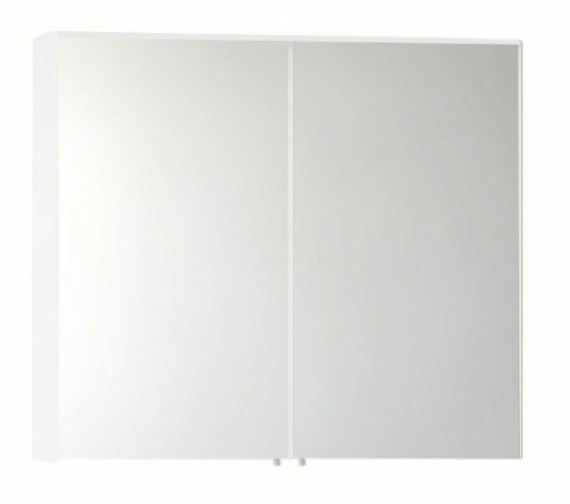 Vitra S50 Classic 1000mm White High Gloss 2 Door Mirror Cabinet