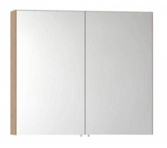 Vitra S50 Classic 1000mm Oak 2 Door Mirror Cabinet