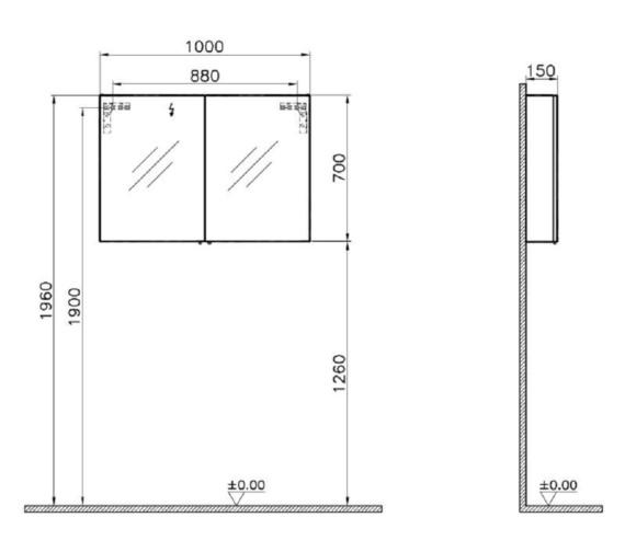 Technical drawing QS-V81868 / 58283