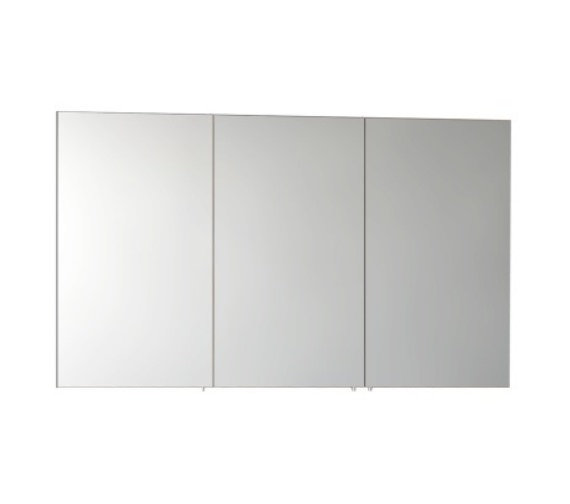 Vitra S50 Classic 1200mm White High Gloss 3 Door Mirror Cabinet