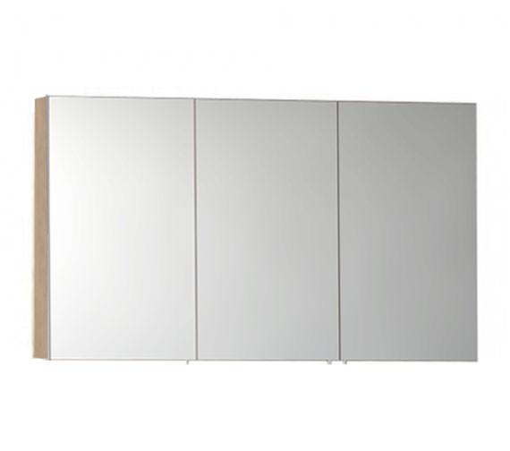 Vitra S50 Classic 1200mm Oak 3 Door Mirror Cabinet
